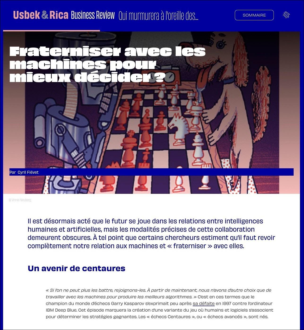 Usbek & Rica Business Review – IA