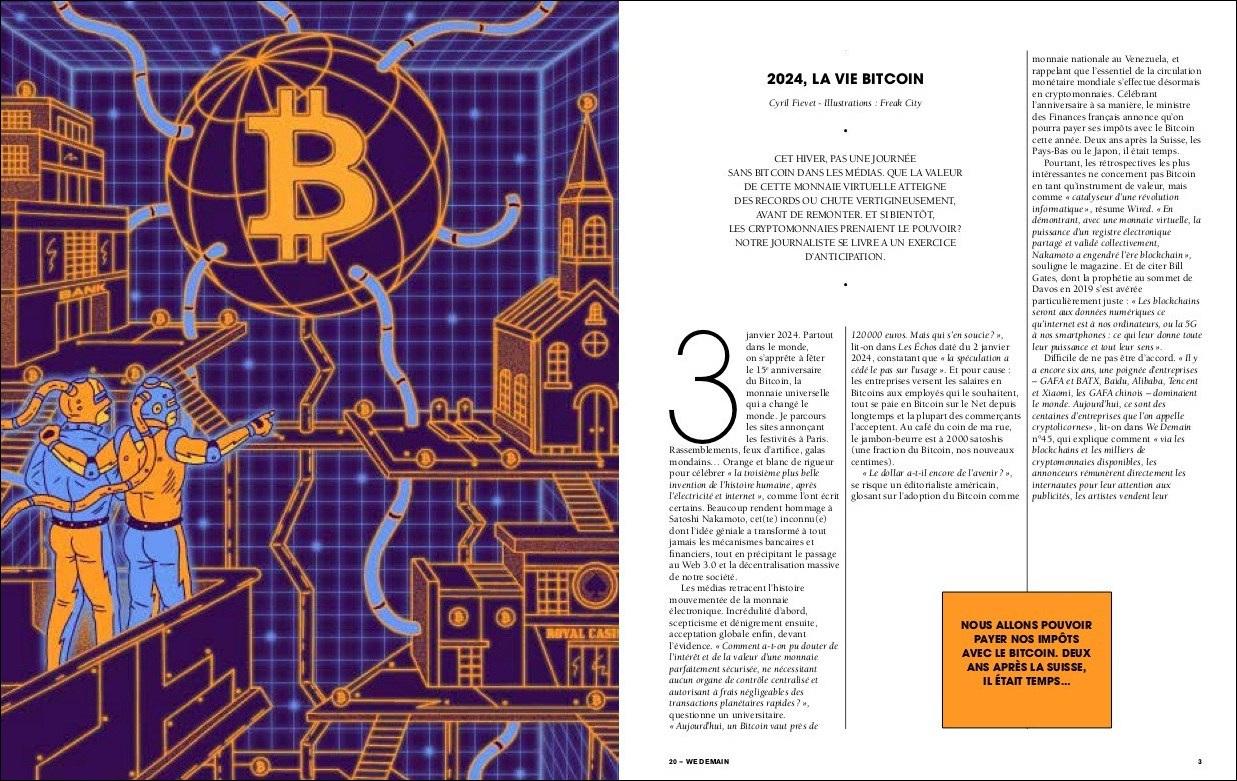 We Demain – Fiction : la vie en Bitcoin