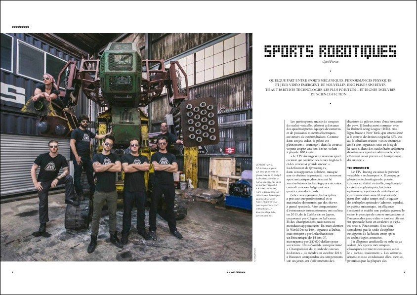 We Demain – Sports robotiques